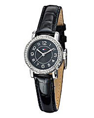 Tommy Hilfiger Ladies Black Strap Watch