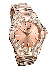 SEKSY PERSONALISED ROSE TONE WATCH