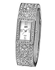 Ladies Diamante Bangle Watch