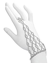 Glitzy Diamante Hand Chain