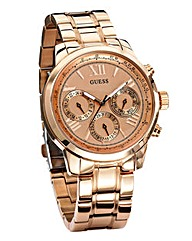 Guess Ladies Rose Coloured Watch