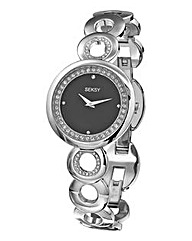 Seksy Silver Cut Out Bracelet Watch