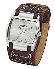 Mckenzie Gents Brown Strap Watch