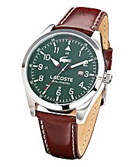 Lacoste Gents Brown Strap Watch