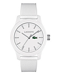 Lacoste Gents White Silicone Strap Watch
