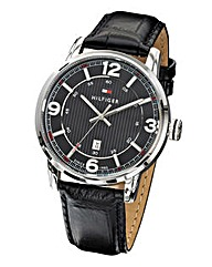 Tommy Hifiger Gents Black Strap Watch