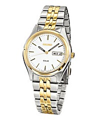 Seiko Gents Two Tone Bracelet Watch