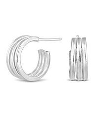 Simply Silver Half Hoop Earring