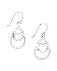 Simply Silver Polished Ring Drop Earring