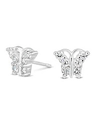 Simply Silver Mini Butterfly Earrings