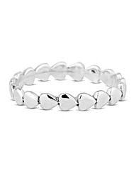 Simply Silver Polsih Heart Eternity Ring