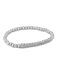 Jon Richard Pave Crystal Bead Bracelet