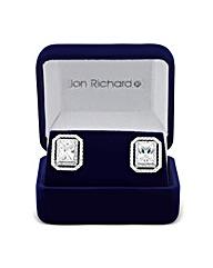 Jon Richard Cubic Zirconia Pave Earring