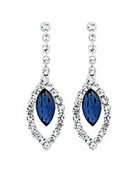 Jon Richard Diamante Sapphire Earring