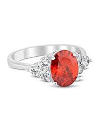 Jon Richard Cubic Zirconia Ruby Ring