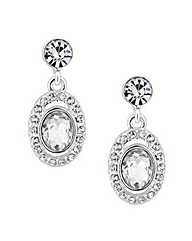 Jon Richard Oval Stone Crystal Earring