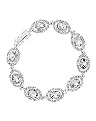 Jon Richard Oval Stone Crystal Bracelet