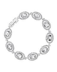 Jon Richard Oval Stone Crystal Bracelet