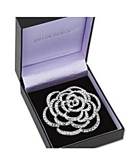 Jon Richard Crystal Rose Brooch