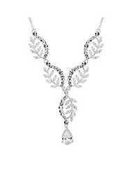 Alan Hannah Cubic Zirconia Leaf Necklace