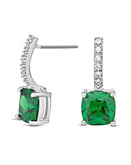 Jon Richard Crystal Emerald Drop Earring