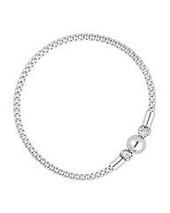 Simply Silver Mesh Ball Bracelet