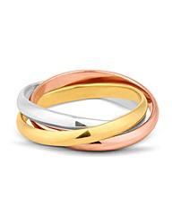Simply Silver Three Tone Band Ring