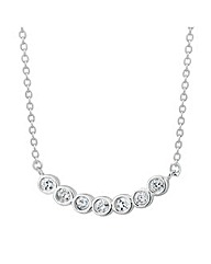Simply Silver Petite Curved Necklace