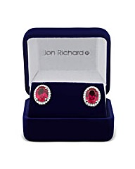 Jon Richard Ruby Oval Earring