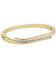 Jon Richard Cubic Zirconia Wave Bangle