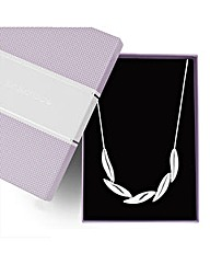 Jon Richard Polished Five Leaf Necklace