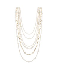 Jon Richard Multirow Pearl Necklace