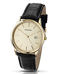 Sekonda Gents Leather Strap Gents Watch