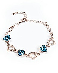 Hearts Bracelet With Swarovski Elements