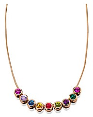 Multicolour Swarovski Crystal Necklace