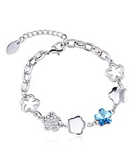 Flower Bracelet With Swarovski Elements