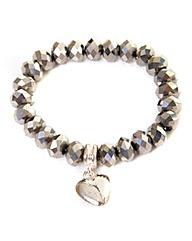 Beaded Bracelet With Heart Charm