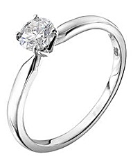 18 Carat Brilliant Cut 1/2 ct Ring
