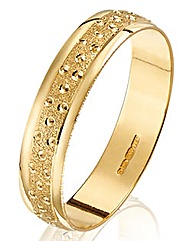 Champagne Bubbles Gents Wedding Ring-4mm