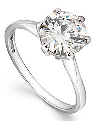 Moissanite 9 Carat Gold 2 Carat Ring