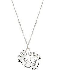 Baby Feet Sterling Silver Pendant