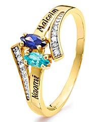 9 Carat Gold CZ Birthstone Ring
