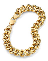 2oz Rolled Gold Curb Bracelet