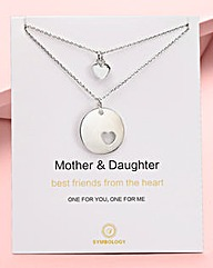 Mother & Daughter Pendant Set