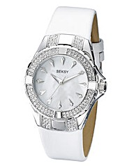Seksy Ladies Intense White Strap Watch