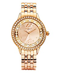 Lipsy Rose-Gold Tone Bracelet Watch