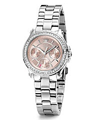 Juicy Couture Silver-Tone Bracelet Watch
