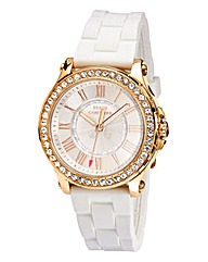 Juicy Couture Ladies White Strap Watch