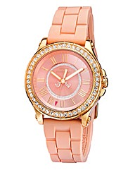 Juicy Couture Ladies Pink Strap Watch