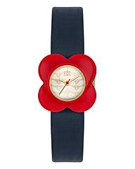 Orla Kiely Ladies Red Flower Case Watch